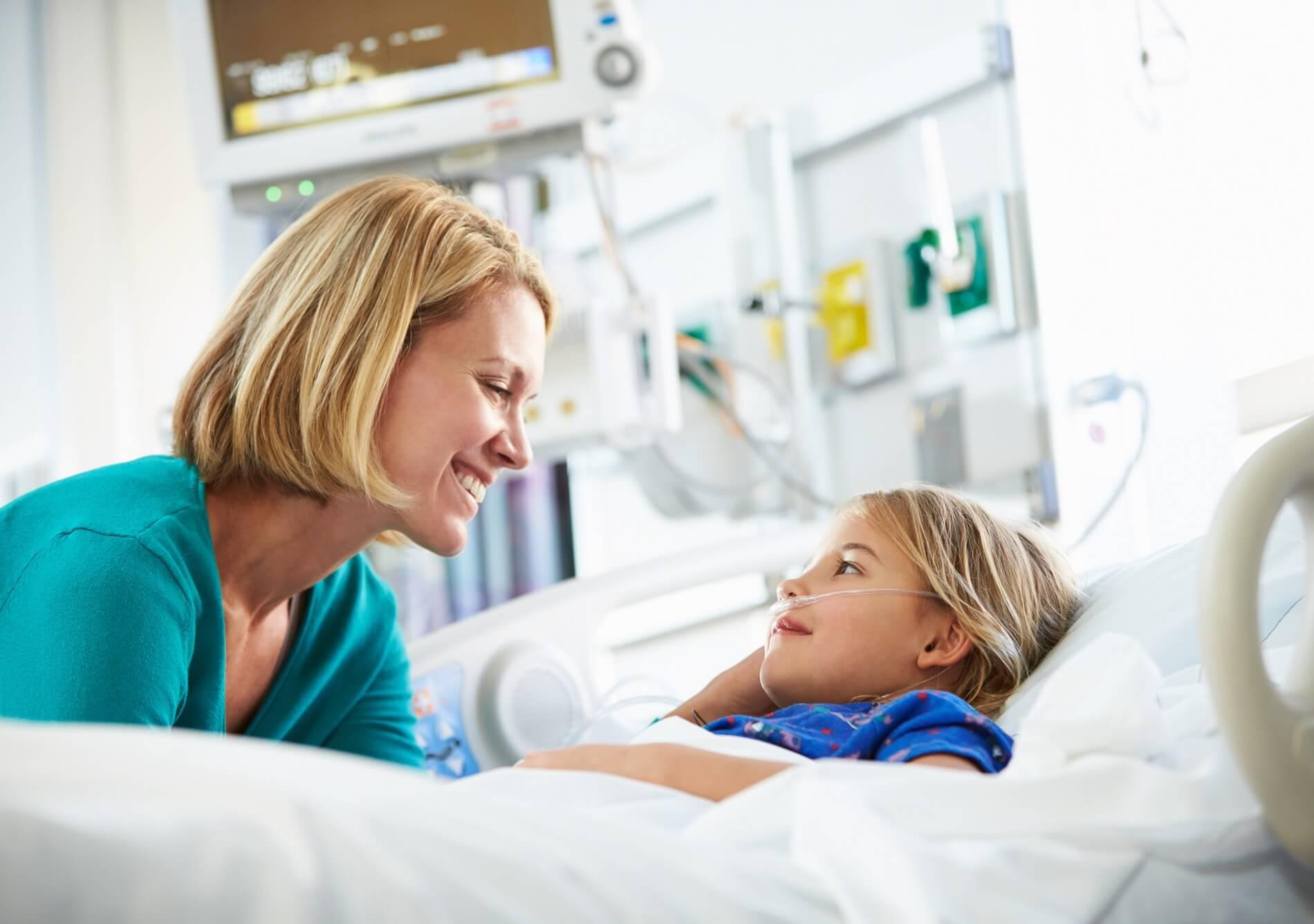 Krankenschwester mit Kind