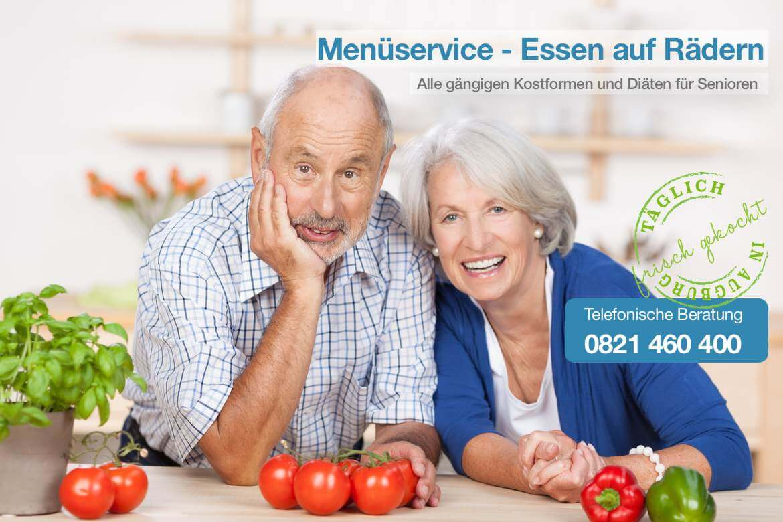 Seniorenehepaar mit frischem Gemüse